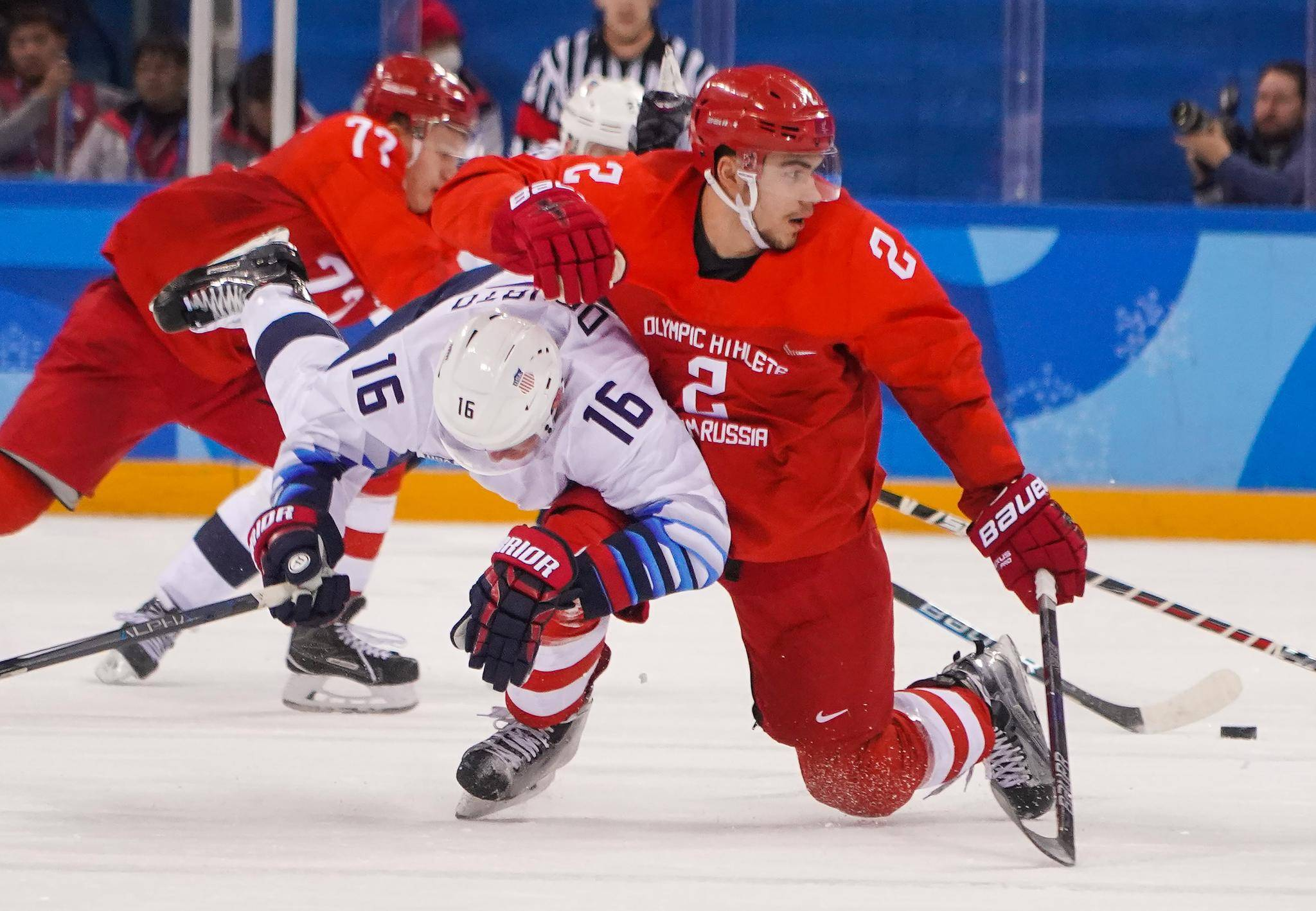 Pyeongchang: Welcome To Hockey In The Era Of Trump; Russians Make A Point With Rough Rink Win Over U.S.