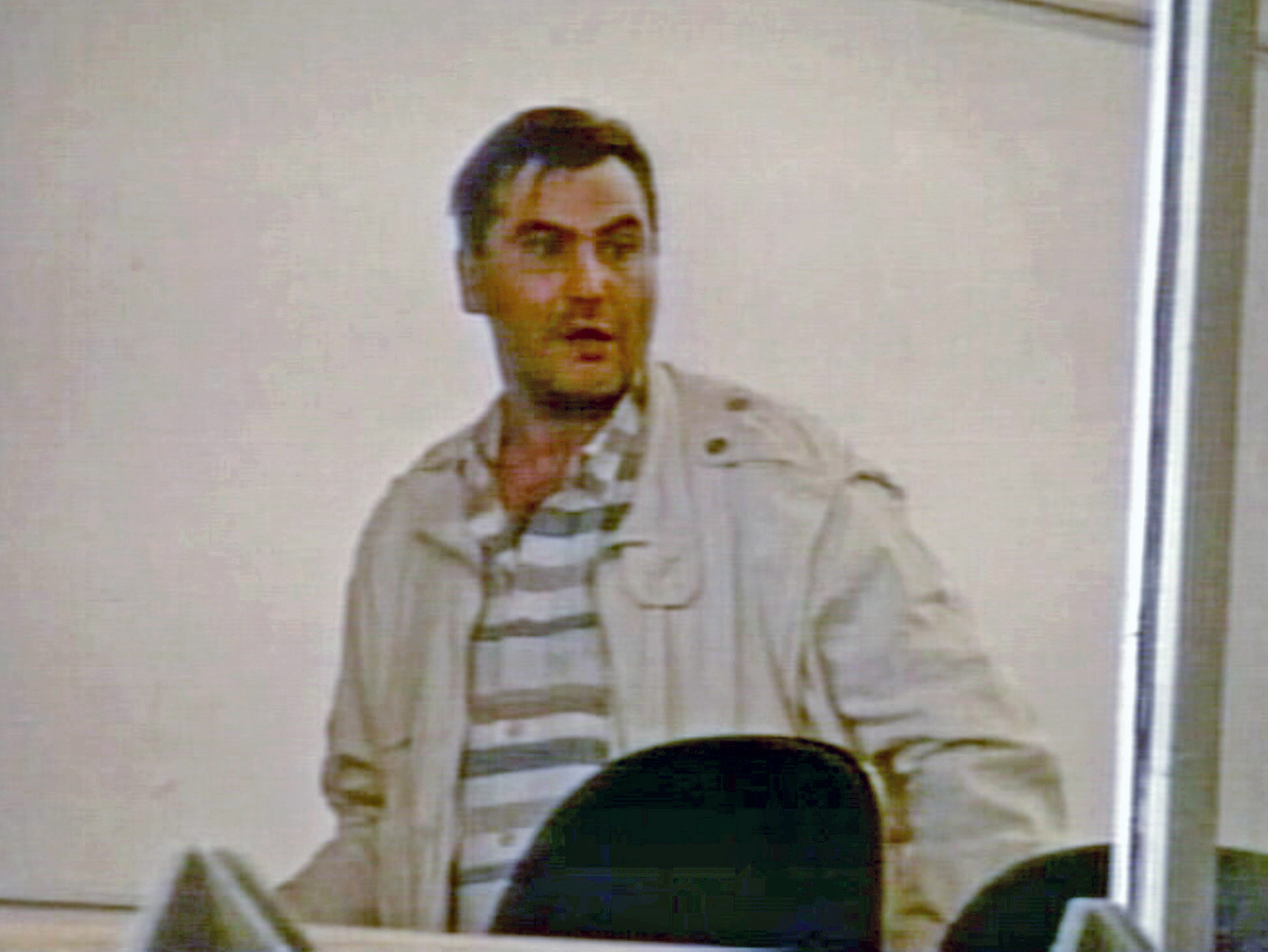 Polish immigrant Robert Dziekanski is seen in the arrivals area of the Vancouver airport in this video image