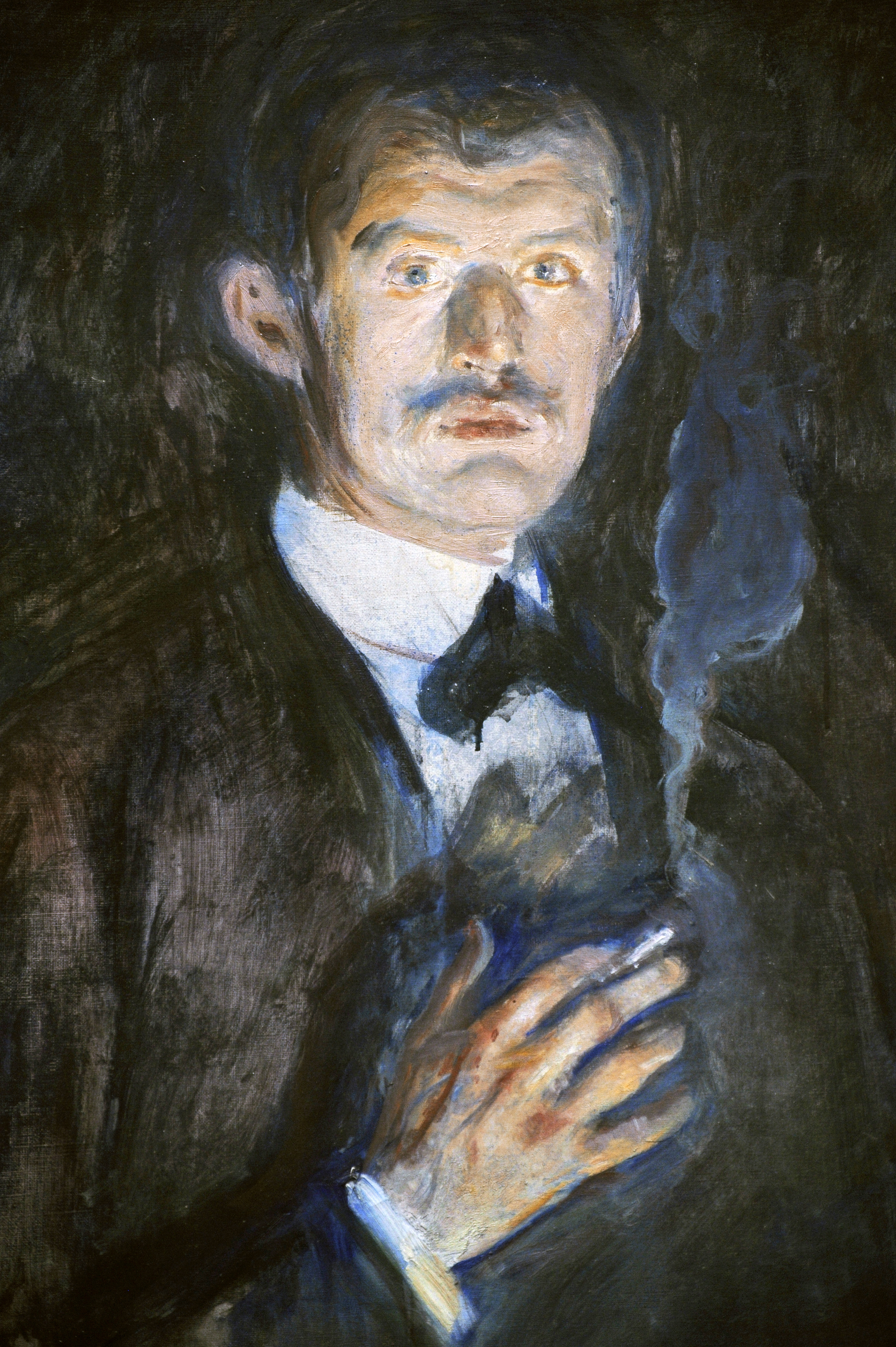 Self-Portrait with Cigarette, 1895, detail