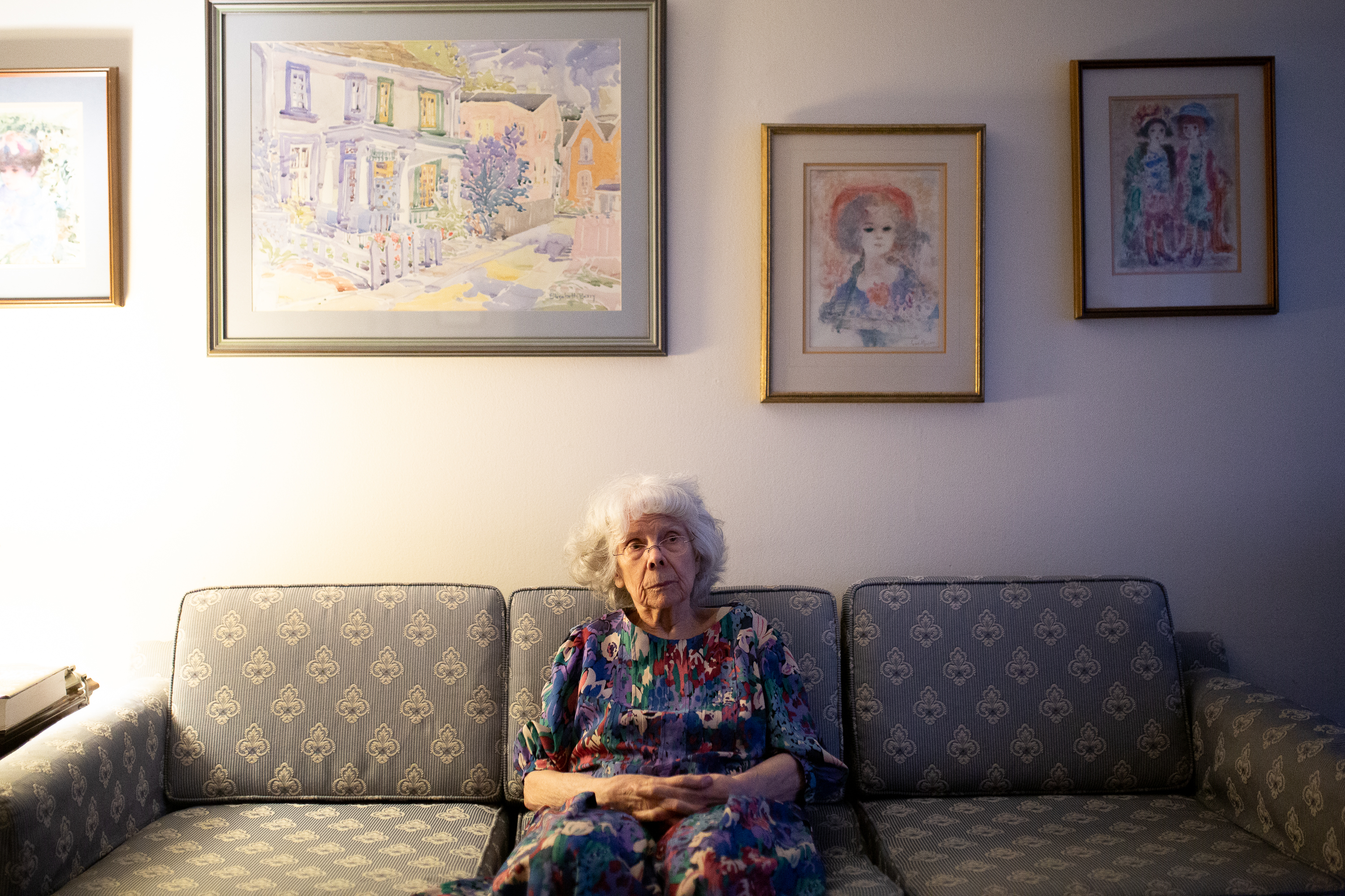 Inge Csongradi, 89, sits in the North York apartment where she has lived by herself for two decades.